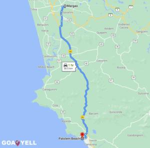 Palolem Beach Goa Map