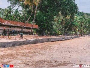 Wall At Vainguinim Beach Goa
